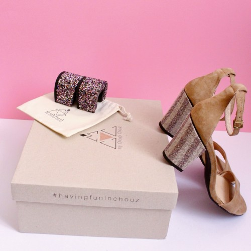 pack beige sandals with interchangeable heels other
