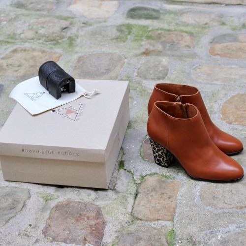 coffret bottines camel