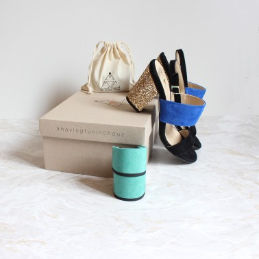 black and blue sandals 8 cm gold glitter heels 4,5 cm turquoise heels