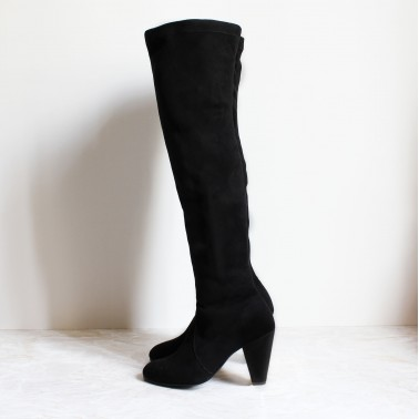 Kelenn over-the-knee boot with black suede 9cm heel