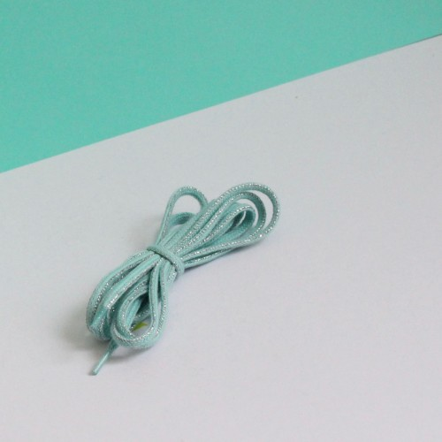 Turquoise green and Sliver lacing