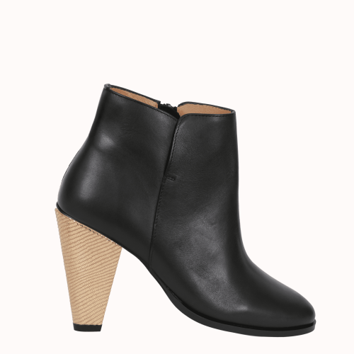 Villiers black leather boots