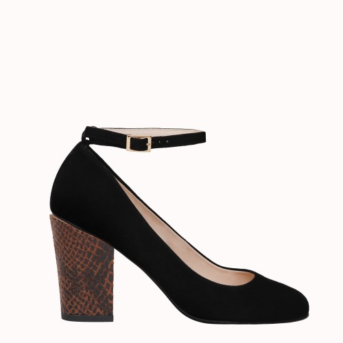 Black Pumps with interchangeable heels Montmartre Babies