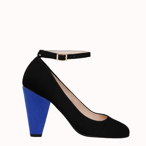 9 cm electric blue heels