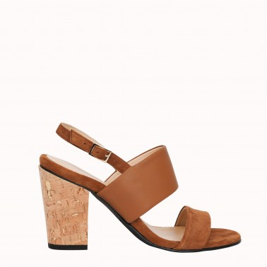 8 cm cork and gold heels