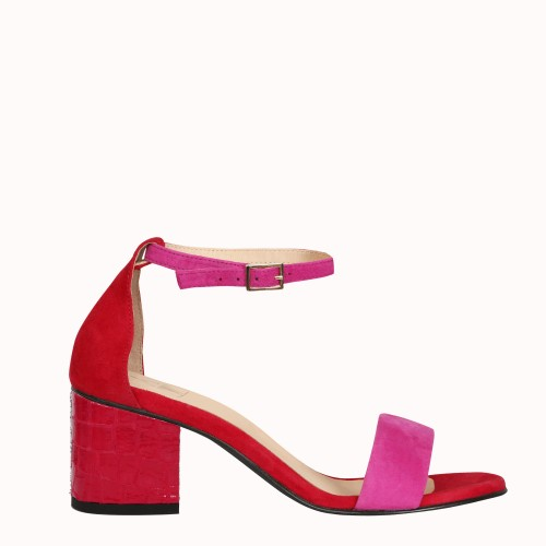 6 cm red scale heels