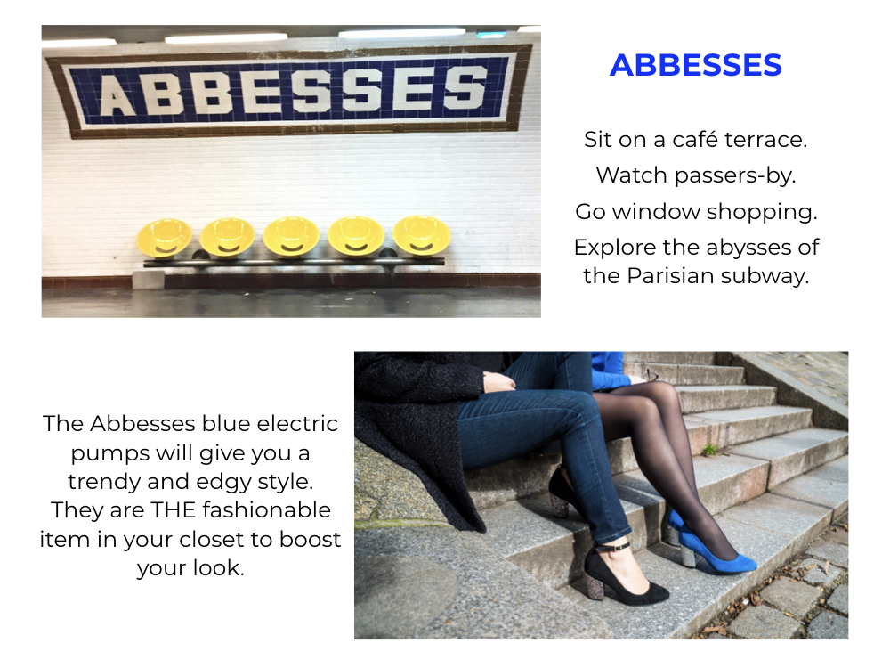 abbesses blue pumps