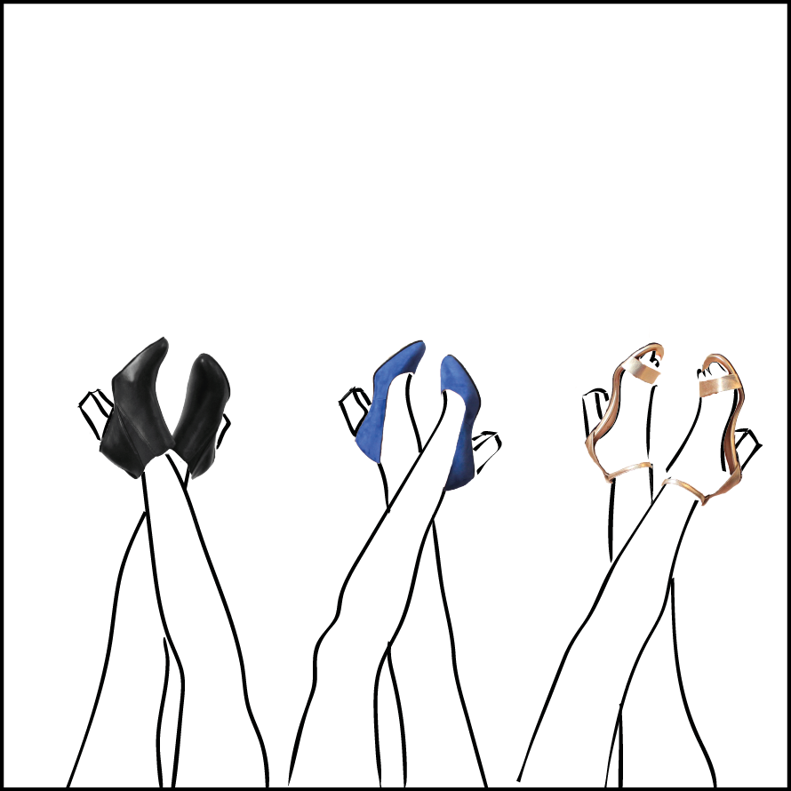 La collection de chaussures à talons interchangeables